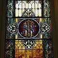 Saint Augustine Catholic Church (Lebanon, KY) - stained glass, Holy monogram.jpg