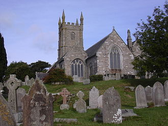 Constantine (Briton) - Saint Constantine's Church in Constantine, Cornwall, perhaps connected to the historical king of Dumnonia