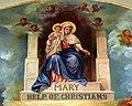 Saint Mary Catholic Church (Tiffin, Ohio) - fresco, Mary Help of Christians, detail.jpg