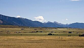 Salt River Range - Salt River Range with Haystack Peak in the distance