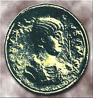 Image of Sallust on a coin