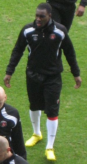 Lloyd Sam - Sam training with Charlton Athletic in 2010
