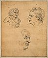 Samuel Johnson; three portraits. Drawing, c. 1789. Wellcome V0009099.jpg