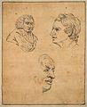 Samuel Johnson; three portraits. Drawing, c. 1789. Wellcome V0009099.jpg