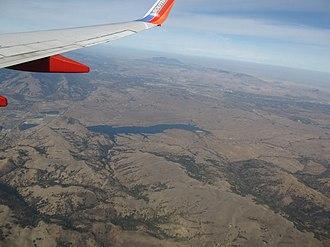 San Antonio Reservoir - Aerial view of San Antonio Reservoir