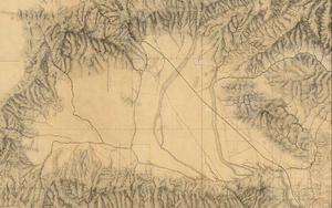 Eulogio F. de Celis - San Fernando Valley: 1880 map with land grant boundaries