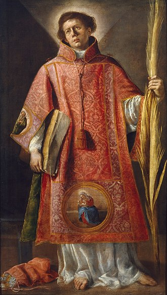 Luis Fernández (painter) - San Lorenzo, 1632, now in the Museo del Prado