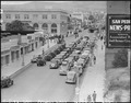 San Pedro, California. A caravan of 74 cars plus many military vehicles, at West Seventh and South . . . - NARA - 536780.tif