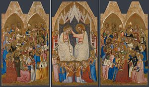 San Pier Maggiore, Florence - Three centre panels of the altarpiece