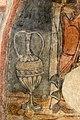 San lorenzo in insula, cripta di epifanio, affreschi di scuola benedettina, 824-842 ca., teoria di sei sante in costume bizantino, 09 alto vaso tipo louroforo.jpg