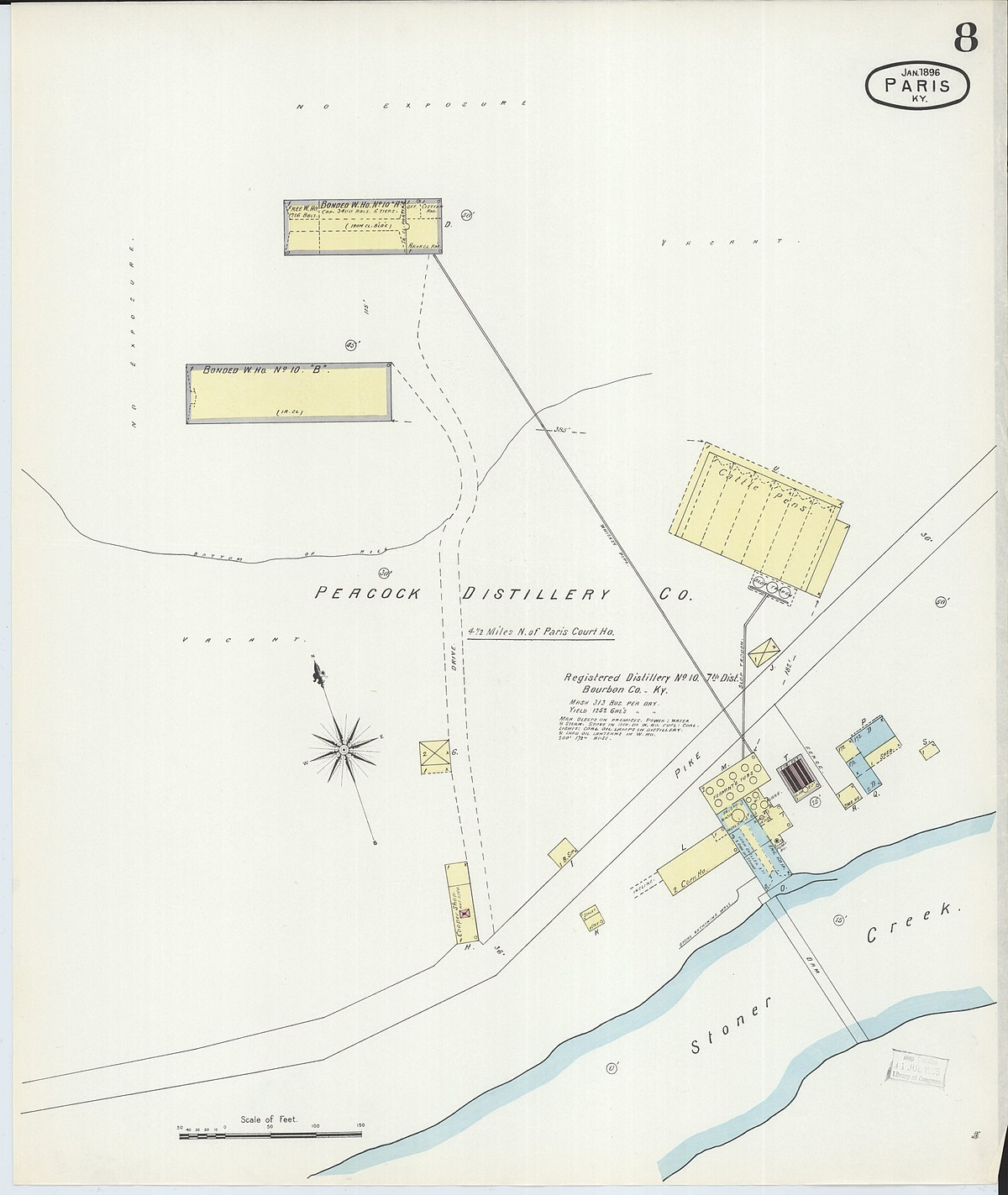 Picture of: File Sanborn Fire Insurance Map From Paris Bourbon County Kentucky Loc Sanborn03227 003 8 Jpg Wikimedia Commons