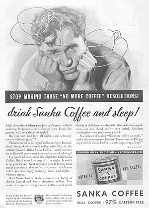 Sanka - 1932 advertisement for Sanka (USA)