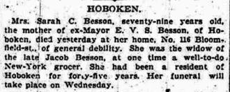Elbridge Van Syckel Besson - Sarah Carhart Runkle obituary. She was the mother of Elbridge Van Syckel Besson