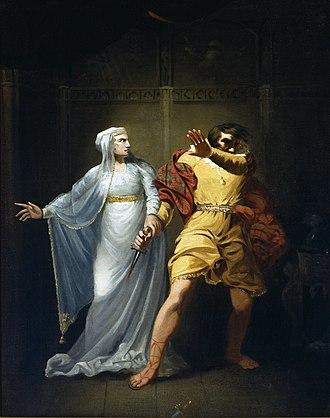 Sarah Siddons - Sarah Siddons as Lady Macbeth, by Robert Smirke, c. 1790–1810