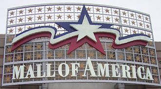 Mall of America - Sign at a Mall of America entrance, removed in 2014 as part of the Phase II expansion