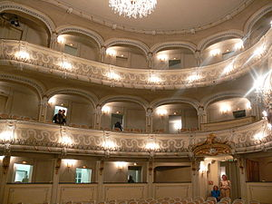 Schlosstheater Schwetzingen - View of the hall