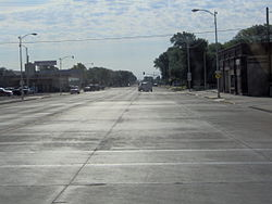 View along K-96 in downtown Scott City