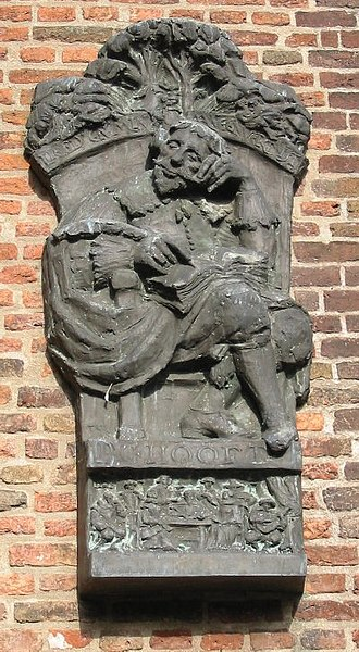 Pieter Corneliszoon Hooft - Image: Sculptuur PC Hooft Binnenplaats Muiderslot maart 2003