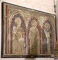 Scuola pistoiese, trittico ad affresco, xiv secolo.jpg