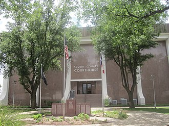 Scurry County, Texas - Image: Scurry County Courthouse, Snyder, TX IMG 4574