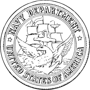 United States Department of the Navy - Seal of the U.S. Department of the Navy from 1879 to 1957.