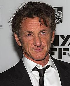 Sean Penn won twice from five nominations for his roles in Mystic River (2003) and Milk (2008). Sean Penn by Sachyn Mital (cropped).jpg