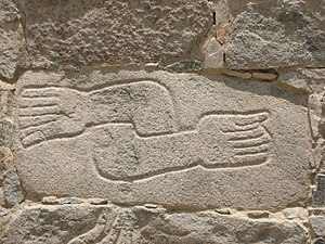 Cerro Sechín - Image: Sechín Archaeological site relief (hands)