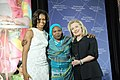 Secretary Clinton and First Lady Obama With 2012 IWOC Award Winner Hawa Abdallah Mohammed Salih of Sudan (6967041193).jpg