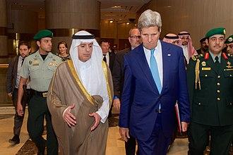 Adel al-Jubeir - With John Kerry, United States Secretary of State, in Riyadh on May 6, 2015