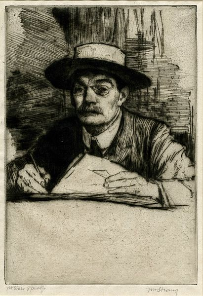 Self-Portrait No.19 by William Strang 1910