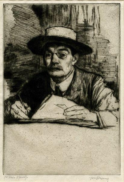 Self-Portrait No.19 by William Strang 1910