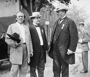 James Thomas Heflin - James K. Vardaman, Heflin, and Ollie James in 1912