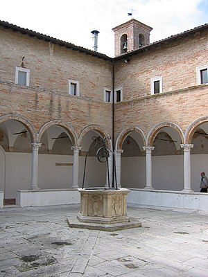 "Senigallia - The Chiostro delle Grazie (""Cloister of the Graces"")."