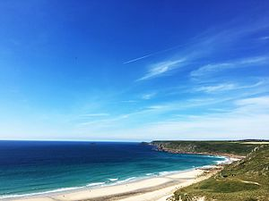 Sennen - The beach at Sennen from Cove Road