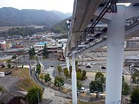Seno Station viewed from Skyrail Service Midorizaka Line.jpg