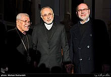 Sepuh Sargsyan, archbishop of the Armenian Diocese of Tehran visit AliAkbar Salehi head of Atomic Energy Organization of Iran at Tehran Prelacy 19.jpg