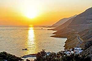 Sfakia - Sunset in Sfakia.