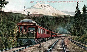 Oregon Railroad and Navigation Company - Image: Shasta Limited circa late 1900s