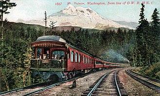Oregon Railroad and Navigation Company - Image: Shasta Limited circa late 1900s