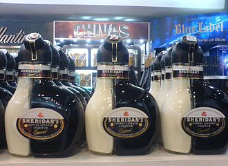 Sheridan's - Bottles of Sheridan's at Noi Bai International Airport duty-free shop