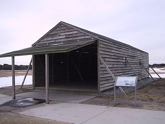 Wright Brothers National Memorial - Replica of hangar used by Wright Brothers.