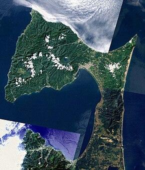 Shimokita Peninsula Aomori Japan SRTM.jpg