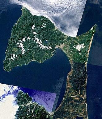 Shimokita Peninsula - Image: Shimokita Peninsula Aomori Japan SRTM