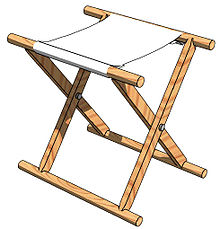 Japanese Traditional Folding Chair