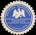 Siegelmarke K.Pr. Grenadier-Regiment Kronprinz Friedrich Wilhelm (2. Schlesisches) No. 11 W0283696.jpg