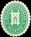 Siegelmarke Stadtgemeinderath - Ostritz W0203989.jpg