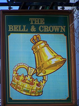Sign for the Bell and Crown, Zeals - geograph.org.uk - 735377