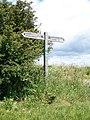 Signpost near Upwey - geograph.org.uk - 1359555.jpg