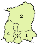 A clickable map of Sikkim exhibiting its four districts.