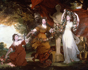 Three Ladies Adorning a Term of Hymen